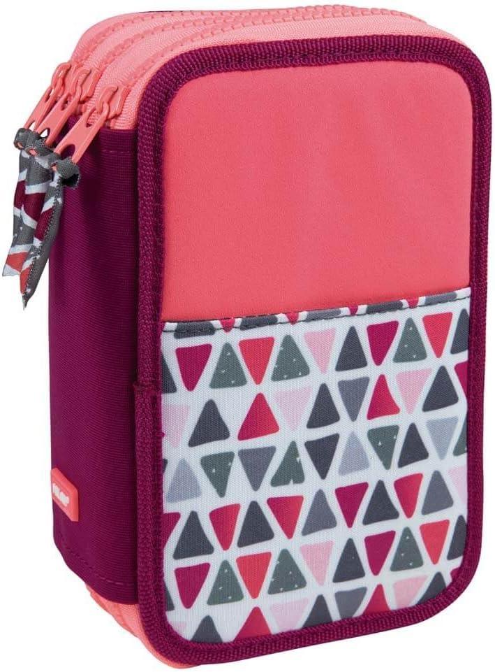 Estuche Milan Geo Pink Triple 53 Piezas: Amazon.es: Oficina y papelería
