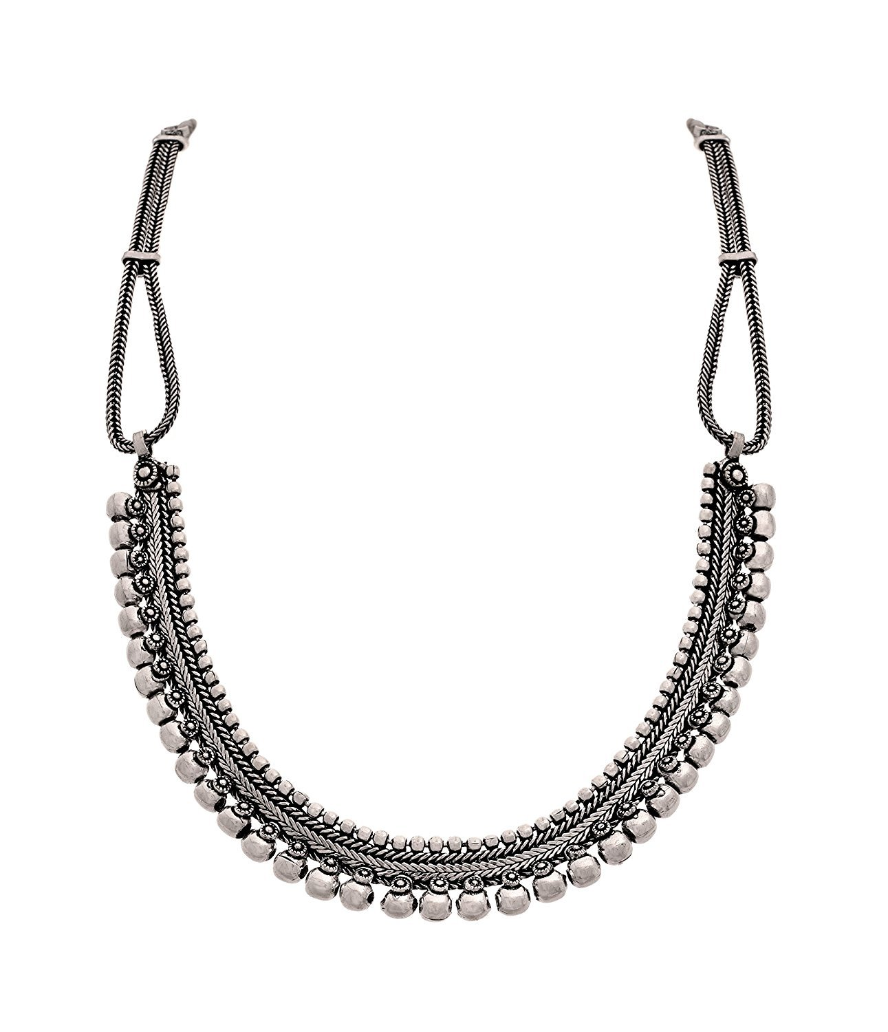 The Trendy Trendz India Bollywood Oxidized Silver Gypsy Style Necklace Jewelry for Women and Girls by The Trendy Trendz (Image #1)