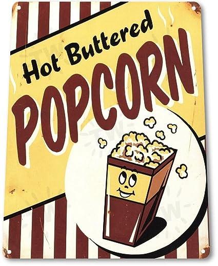 """Amazon.com: TIN SIGN """"Hot Popcorn\"""