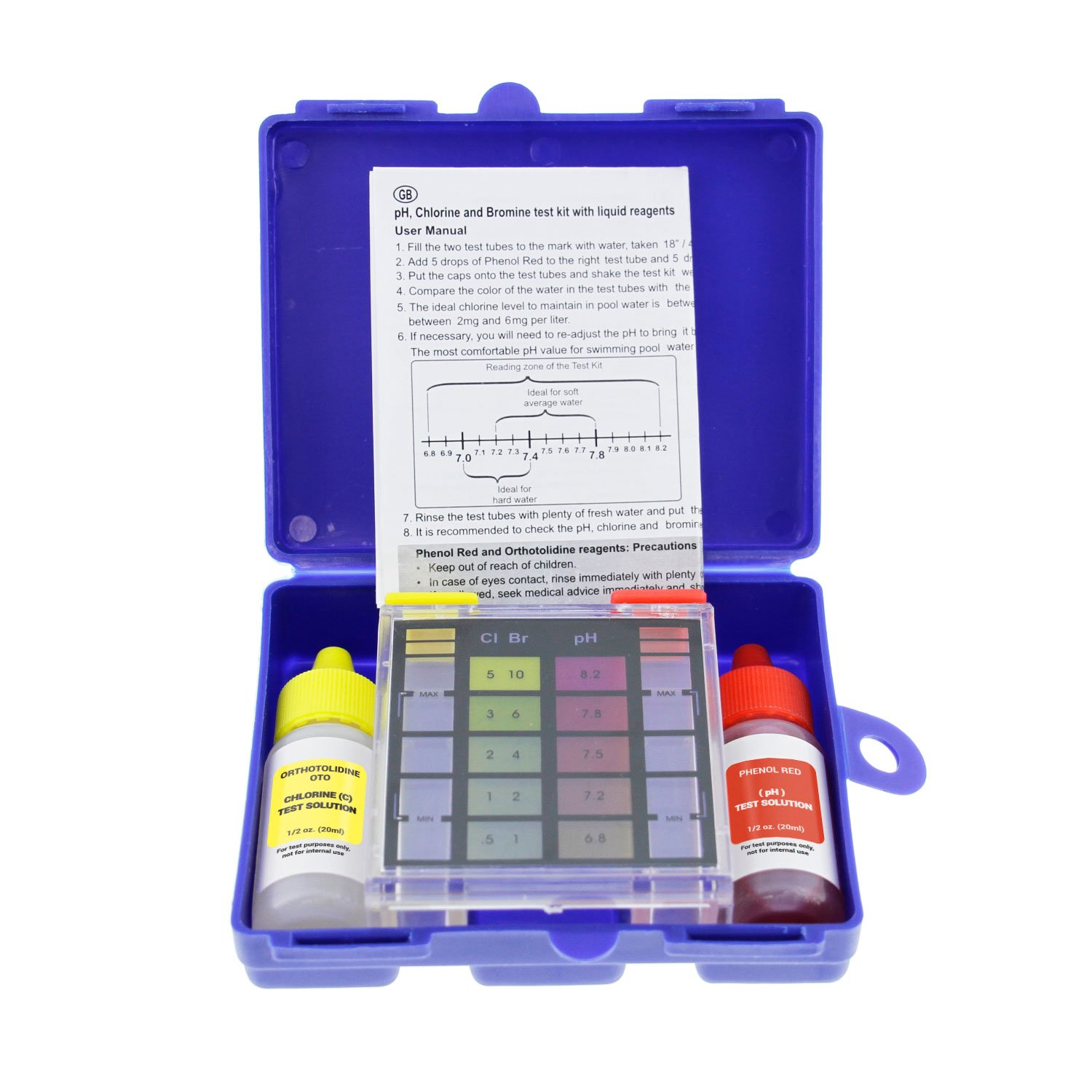 U.S. Pool Supply Standard 3-Way Swimming Pool & Spa Test Kit, Tests Water for pH, Chlorine and Bromine by U.S. Pool Supply
