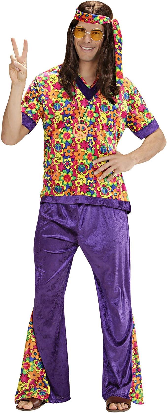 WIDMANN Widman - Disfraz de hippie años 60s para hombre, talla XL ...