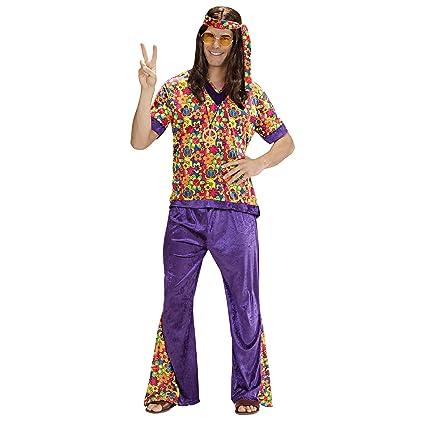 WIDMANN Widman - Disfraz de hippie años 60s para hombre, talla L (73303)