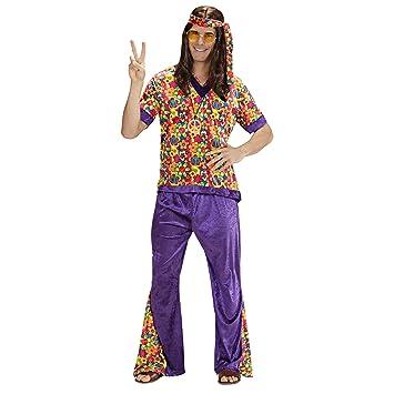 WIDMANN Widman - Disfraz de hippie años 60s para hombre, talla M (73302)