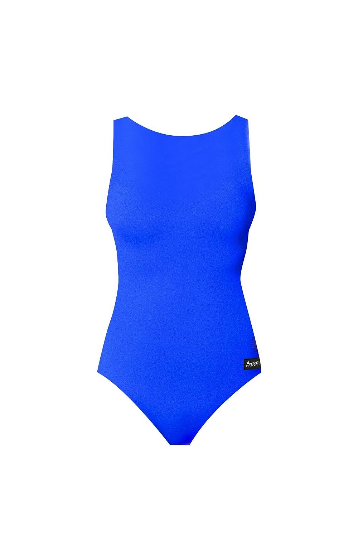 AeroskinポリプロピレンスポーツBack Swim Suit inソリッドカラー B003TW5MFE X-Small|ブルー