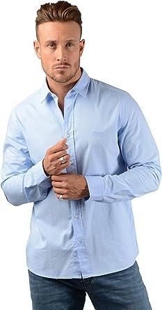 Boss Hugo Hombre Evory Logo Camisa en Azul Cielo: Amazon.es: Ropa y accesorios