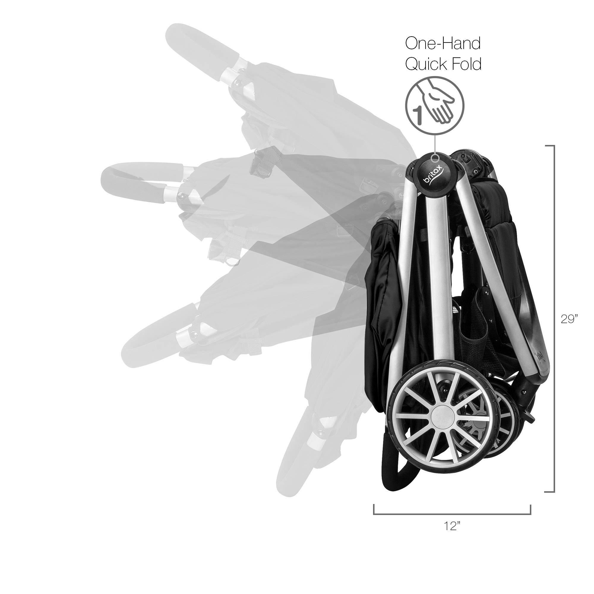 Britax B-Lively Lightweight Stroller, Raven by BRITAX (Image #10)