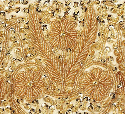 Elezay - Cartera de mano de Piel para mujer dorado