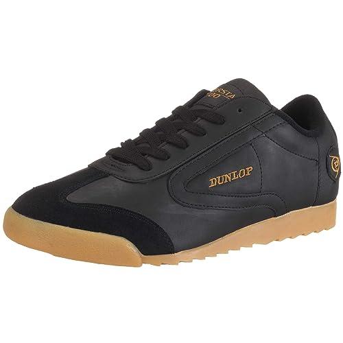 Dunlop Superstar 100 black 510300101-37 - Zapatillas fashion de cuero nobuck para mujer, color negro, talla 37: Amazon.es: Zapatos y complementos
