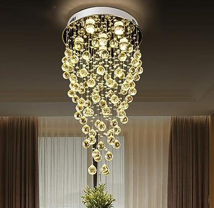 Moderna lámpara de techo colgante con luz de lluvia, con ...