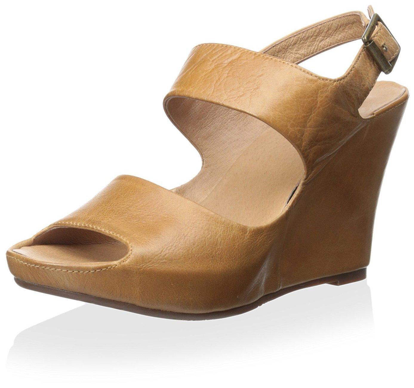 Chocolat Blu Women's Cortez Sandal, Camel Leather, 39 M EU/9 M US