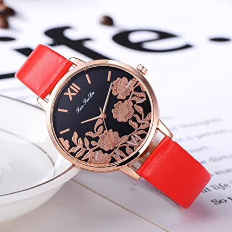 gaddrt reloj pulsera de piel de moda de Luxe analógica ...
