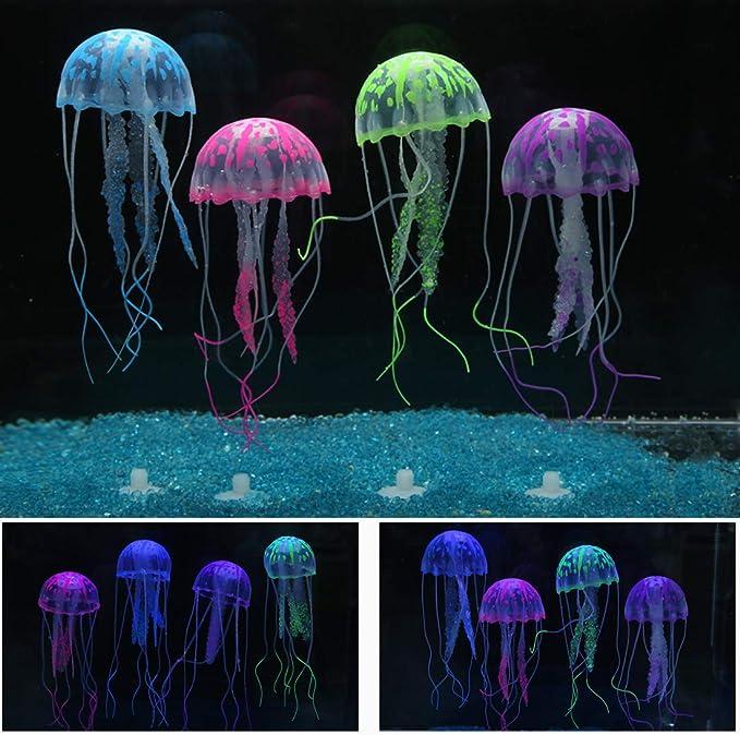 Wandrola 6 Pcs Glowing Effect Artificial Jellyfish Ornament