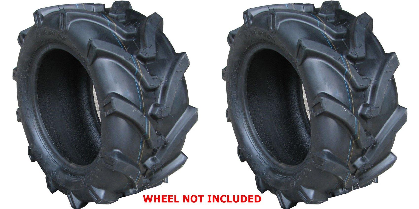 TWO 24X12.00-12 24x12-12 OTR Lawn Trac Bar Lug Tires 4 ply Rated Heavy Duty