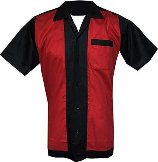 Bowling Retro 1950s//1960s Rockabilly /'New/' Fast delivery Vintage Men/'s shirt