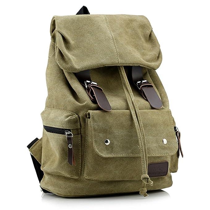 2 opinioni per TINNINA Vintage Tela Zaino Satchel Zaino Daypack spalla Sacchetto di scuola per