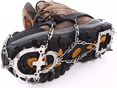 E-Bestar Cadenas de nieve y hielo para zapatos antideslizante ...