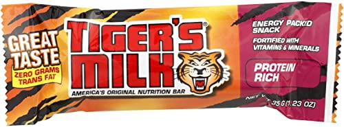 Tigers Milk Bar – Protein Rich – 1.23 Oz – Case Of 24