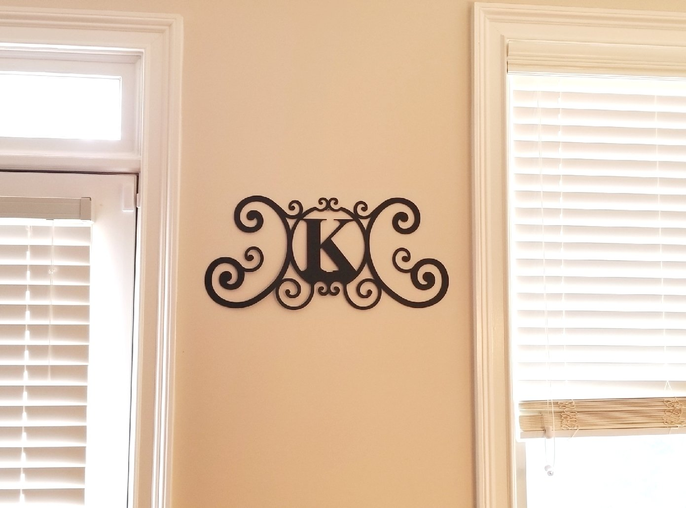 Amazon.com: Bookishbunny Monogram Initial Letter A-Z Wrought Iron ...