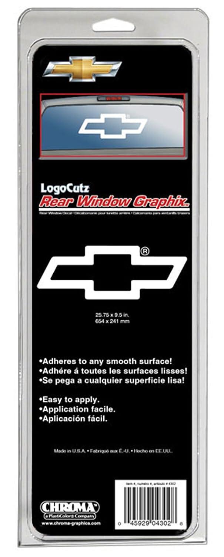 Amazoncom Chevy Logo Cutz Rear Window Decal X Automotive - Chevy truck stickers for back window