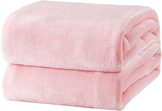 Single Bed or Throw Pink Plush Blanket Thick /& Super Soft to touch
