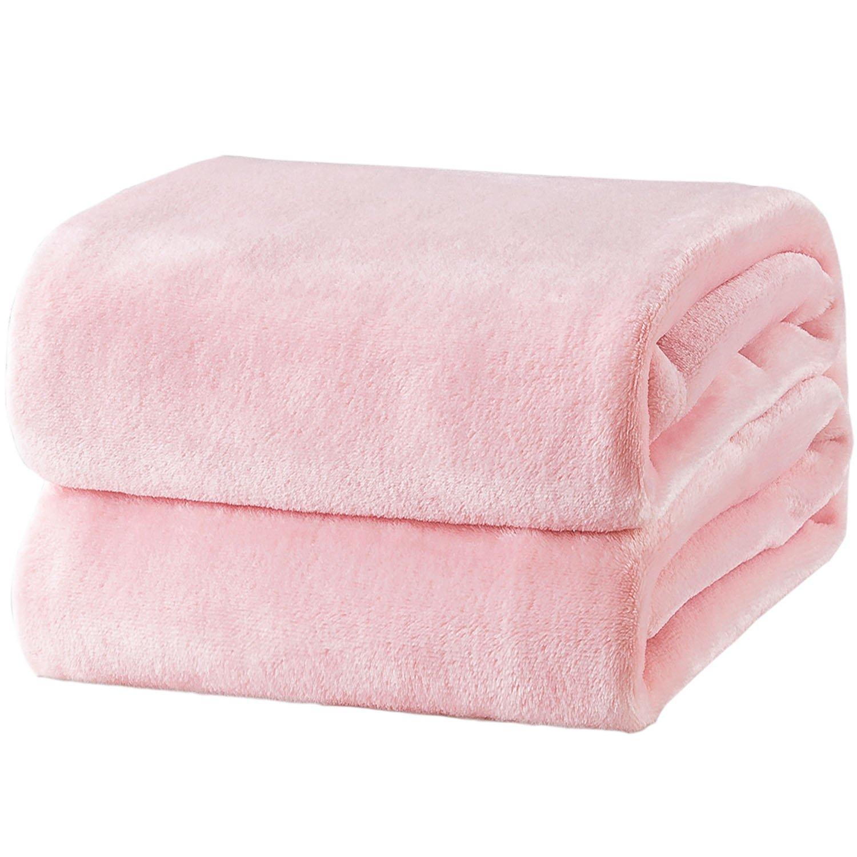 Bedsure Fleece Blanket King Size Pink Lightweight Super Soft Cozy Luxury Bed Blanket Microfiber