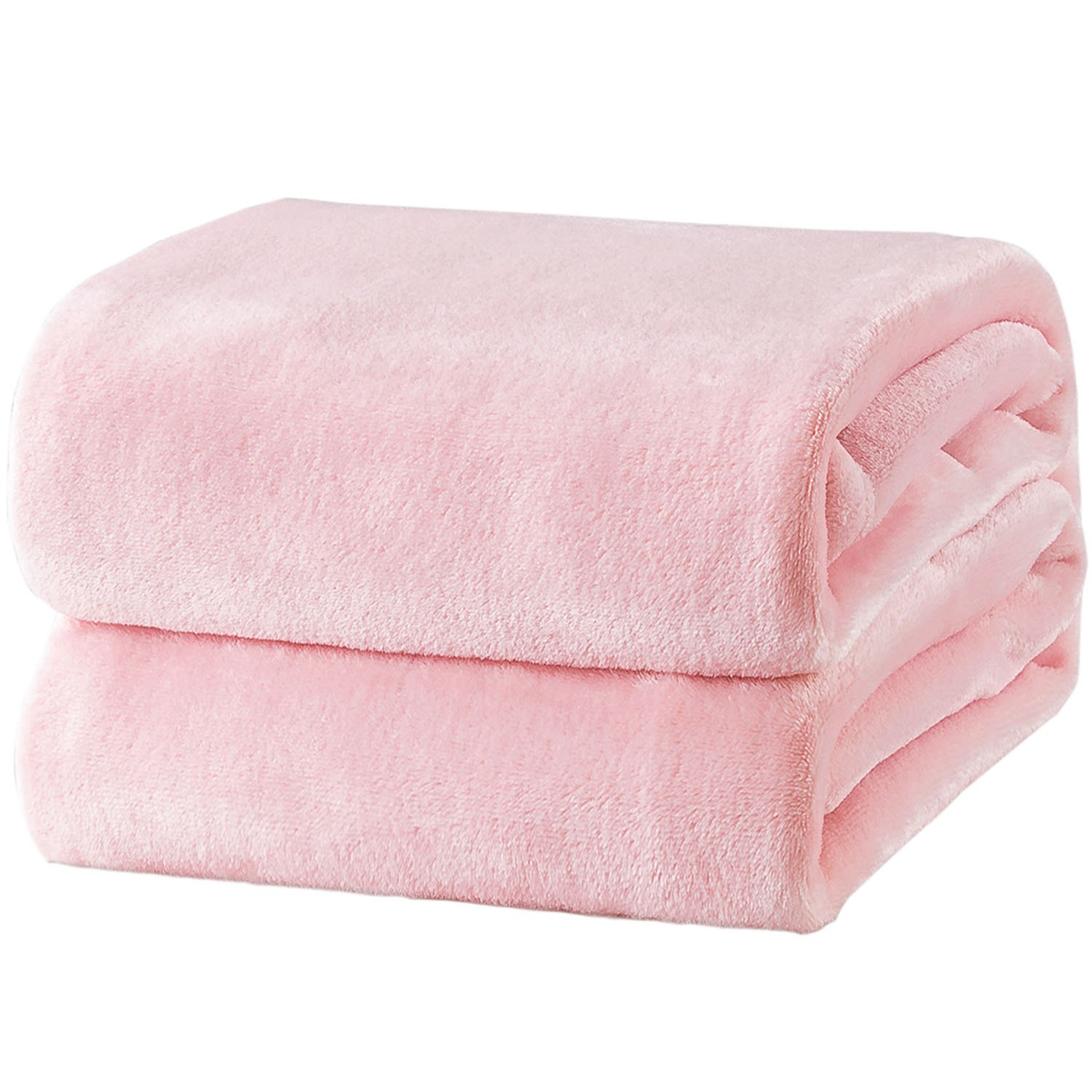 Bedsure Fleece Blanket Queen Size Pink Lightweight Super Soft Cozy Luxury Bed Blanket Microfiber by Bedsure