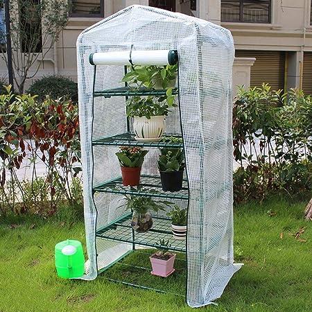 LIZIWS Greenhouse 5 Pisos de Efecto Invernadero Spire Jardín Conservatorio adecuados for Las Flores/Plantas, a Prueba de Lluvia Disponible en Todas Las Estaciones (Color : PE, Size : No Wheel): Amazon.es: Hogar