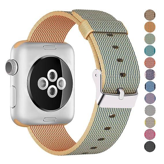 Amazon.com  Pantheon Compatible Apple Watch Band 38mm 40mm Nylon ... bf6b6985aa0b