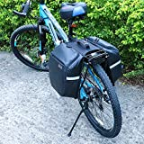 KINGSWELL Cycling Bag Waterproof Bike Bag Bicycle Double Luggage Pannier Bag Carrying Bag Black for Mountain and Outdoor