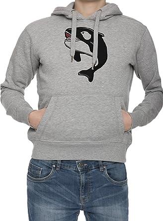 Ballena Hombres Gris Sudadera Con Capucha Saltador Camisa De Rntrenamiento Capucha | Mens Grey Hoodie Jumper: Amazon.es: Ropa y accesorios