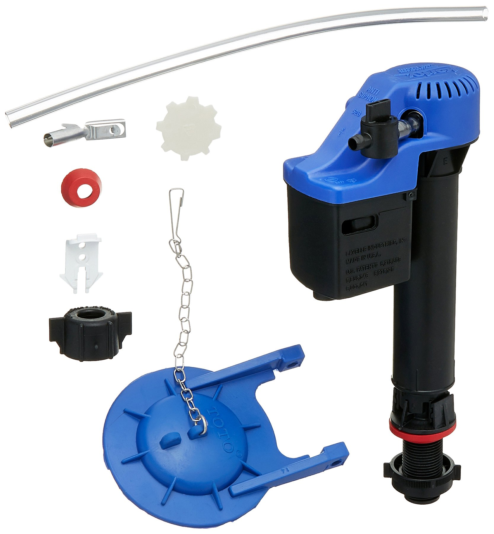 Korky Combo Pack For TOTO Toilets - (1) Korky 528GT Universal Fill Valve and (1) Korky 2022BP Power Gravity Flapper