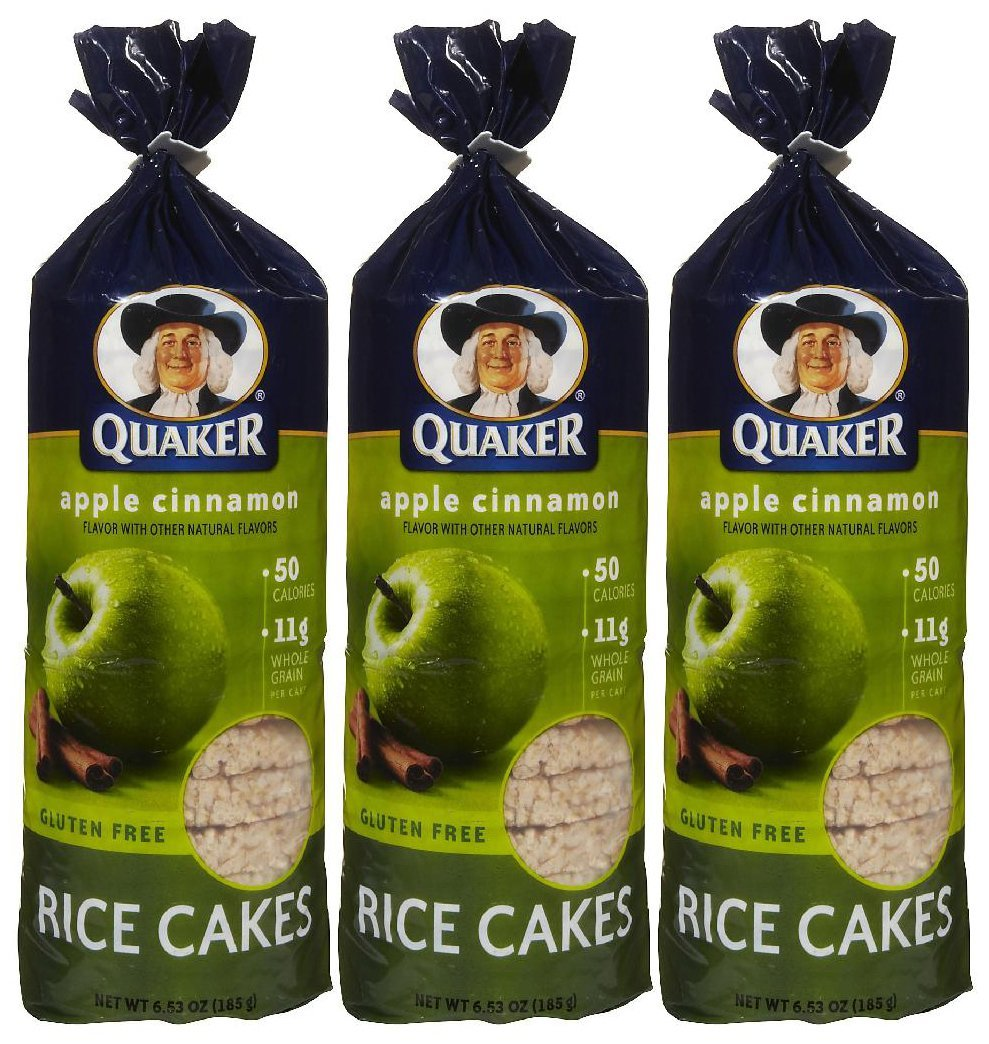 Quaker Apple Cinnamon Rice Cake, 6.52 oz, 3 pk