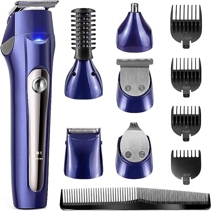 Recortador de pelo para hombre con cabezal (8 Piezas): Amazon.es ...