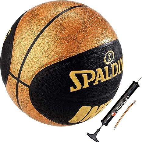 Spalding baloncesto SPALDING NBA Logo Negro/Oro Tamaño 7 + Balón ...