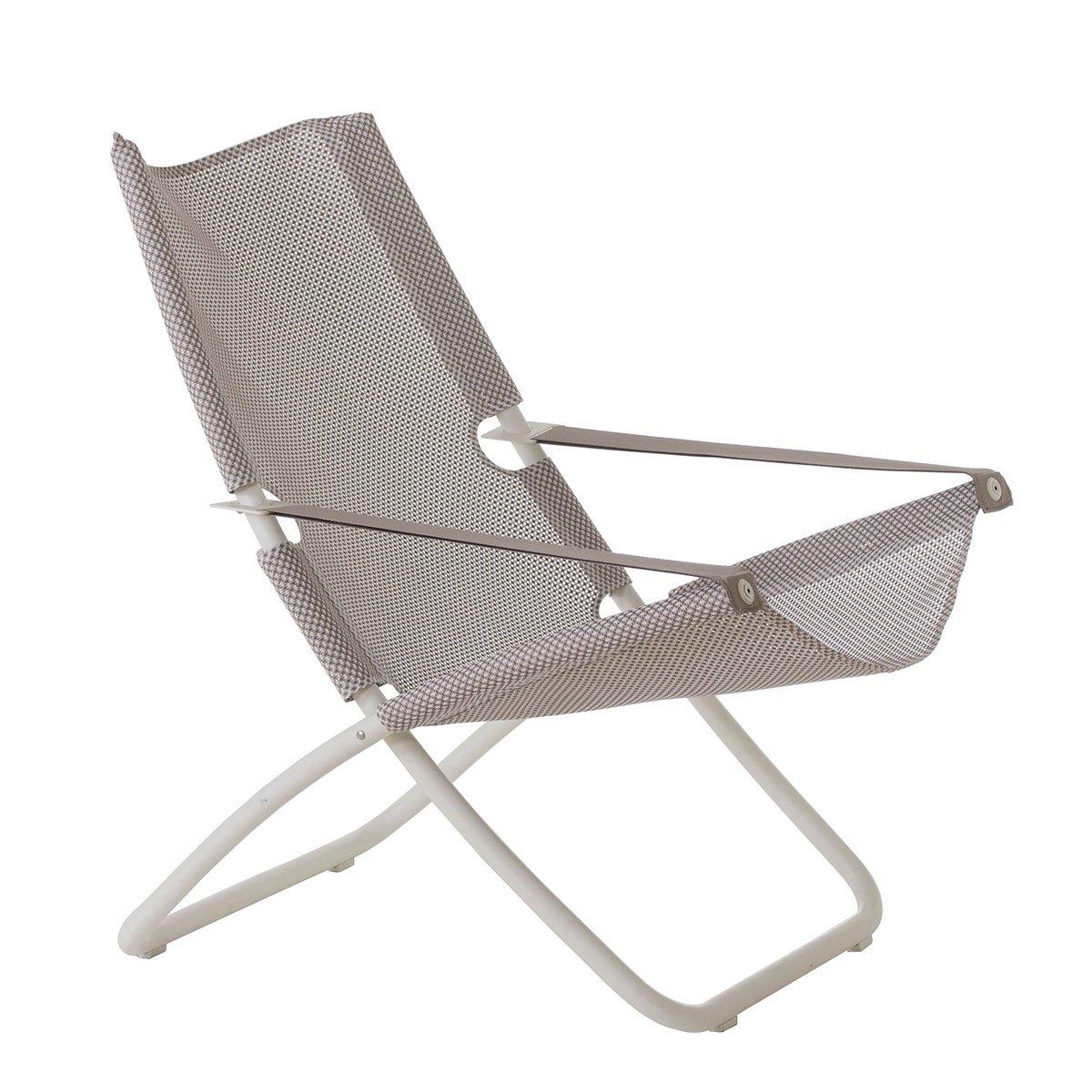 Snooze folding Deck Chair Emu Item 201 Color Wyite Cod 23 Jersey Tex