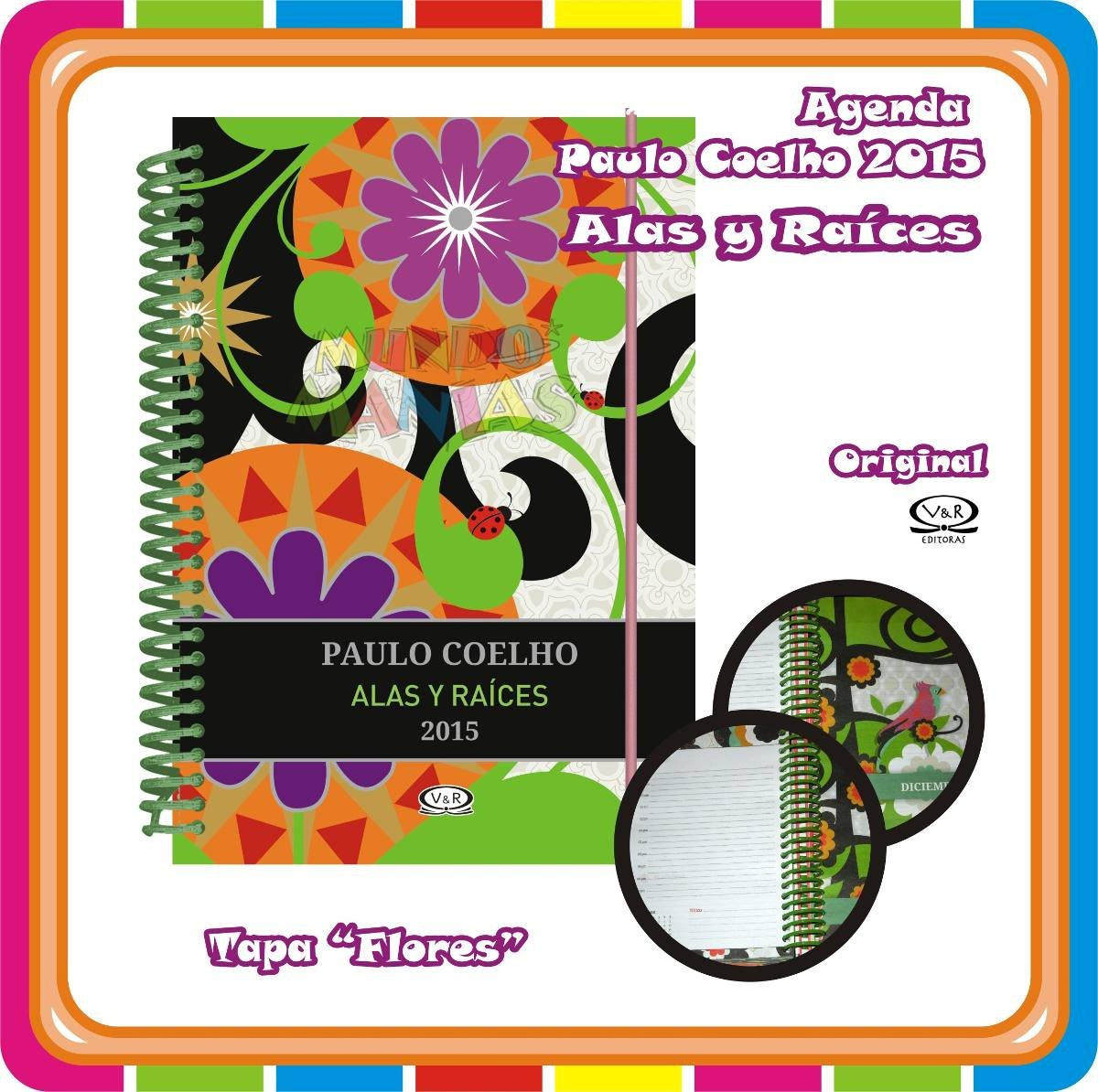 Paulo Coelho Alas Y Raices Pavo Real-agenda 2015 (Anillada ...