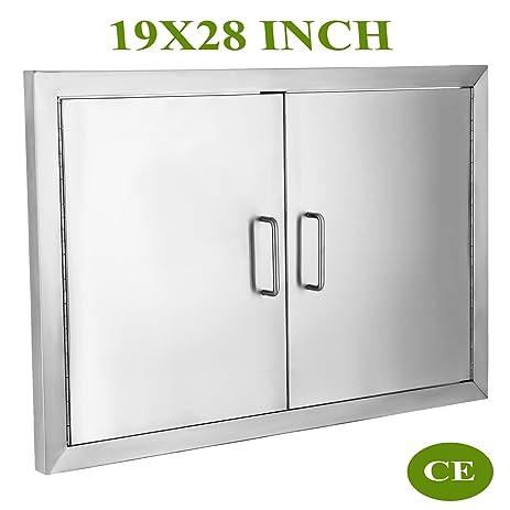 mophorn bbq door 304 commercial grade stainless steel doors double access door