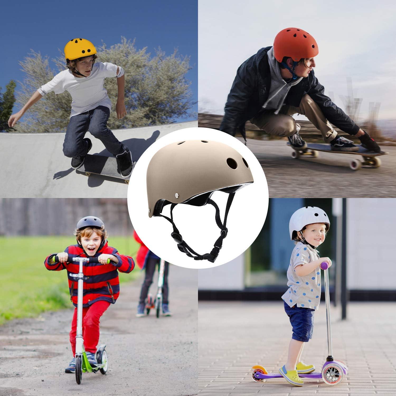Inline Skating Rollerblading Cycling Longboard Bike Kids//Adult Skateboard Helmet with Removable Liner for Scooter BMX Roller Skate Skiing Adjustable Straps Multi Color Skateboarding