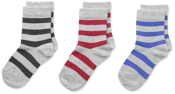 9aa97b4fa Country Kids Boys Bold Stripe Organic Socks 3 Pair Pack, Primary, 12-24