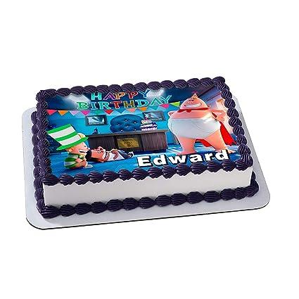 Amazon.com : Captain Underpants Birthday Cake Personalized Cake ...