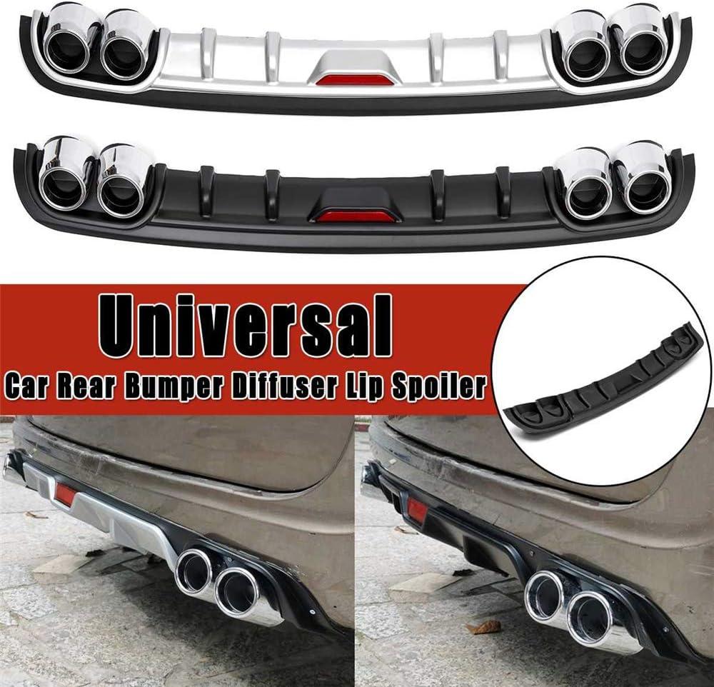 Super Eight Universal Black Bumper Trasero Lip Trunk Spoiler Protector de difusor Trasero Car Styling para Skoda Octavia para Benz,Negro,A