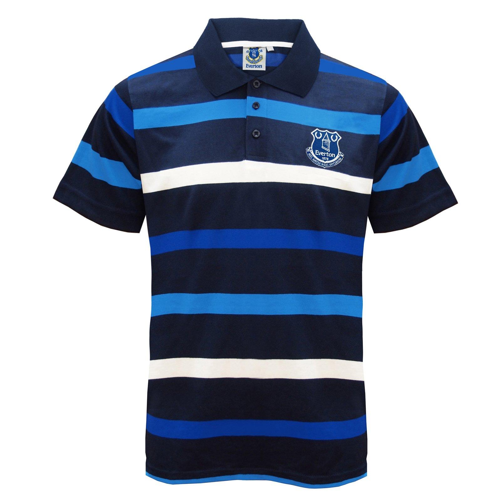 Everton FC Official Football Gift Boys Poly Training Kit T-Shirt