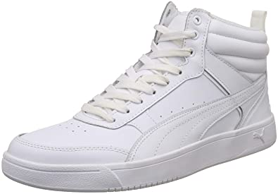 ab79a0b9eb Puma Men's Rebound Street V2 L White Leather Sneakers-7 UK/India ...