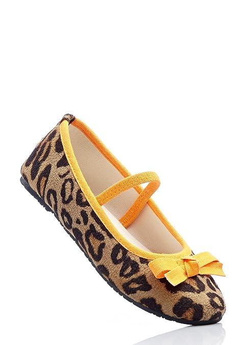 c87850e1bbd2 bpc bonprix collection, Ballerine Bambine Leopard/Neonorange,  (Leopard/Neonorange),