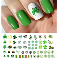 St. Patricks Day Luck of The Irish Assortment Water Slide Nail Art Decals