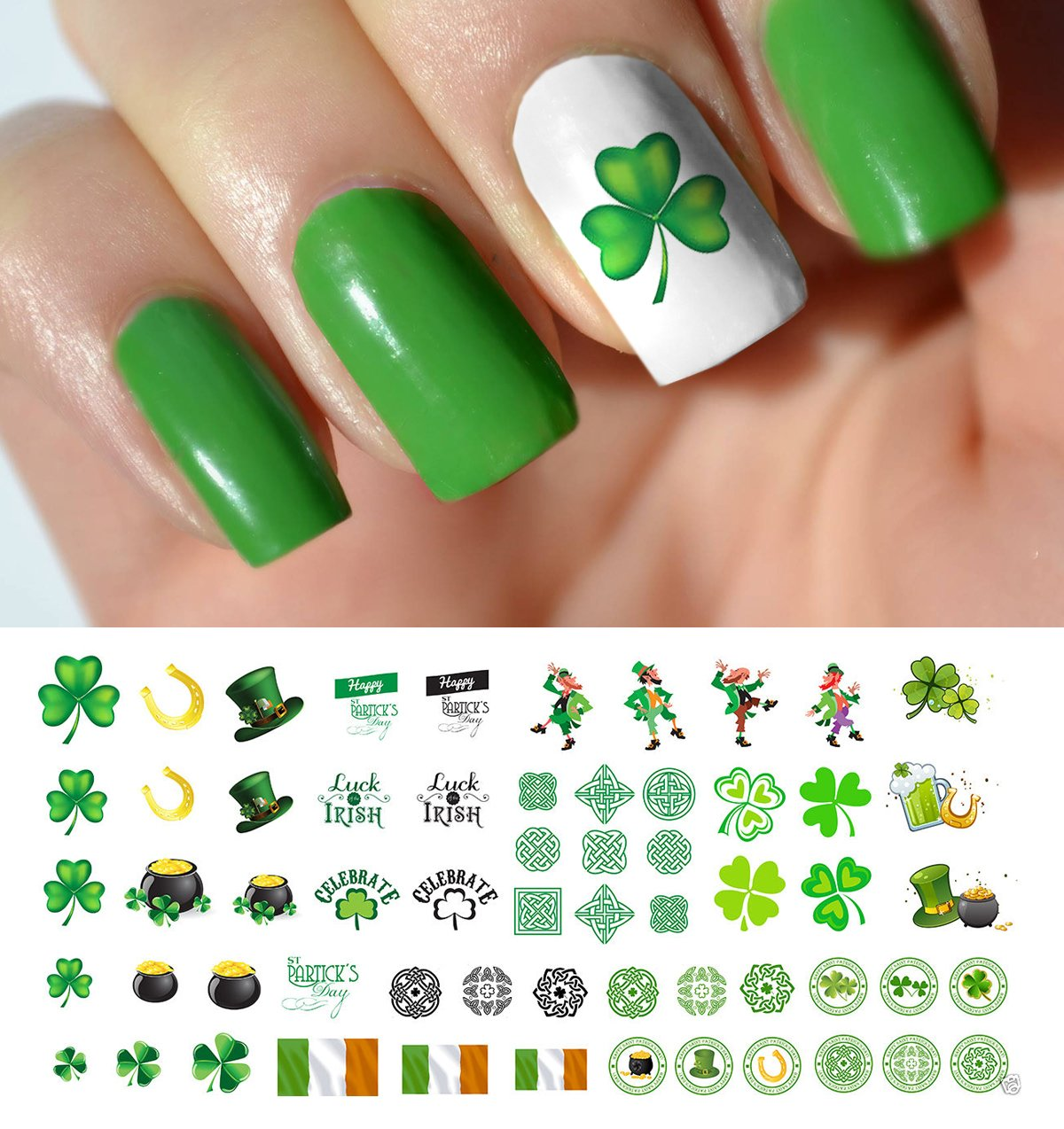 Amazon.com: Easter Nail Decals Assortment #1 Water Slide Nail Art ...