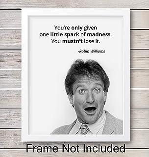 Amazon.com: Robin Williams Quotes Wall Art, 8\