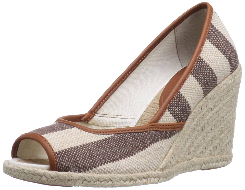 Lauren Ralph Lauren Women's Isis Wedge Sandal B00A6EYQ8M 8.5 B(M) US|Brown/Natural