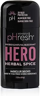 product image for Honestly pHresh Men's Prebiotic Natural Deodorant, Hero Herbal Spice