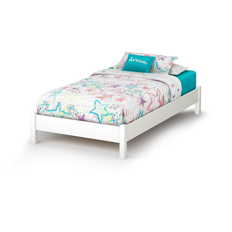amazoncom white twin mateu0027s platform storage bed with 3